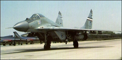 MiG-29 wearing old-style Yugoslav markings