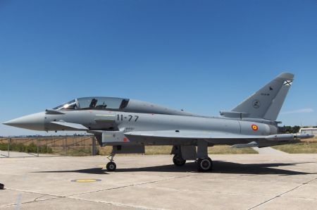 A Spanish Eurofighter Typhoon